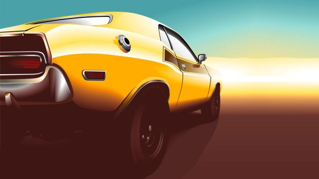 muscle car vector by depot-hdm
