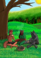 ANTHRO CHALLENGE #128 - Family Picnic by RearmedDreamer