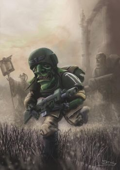 Wh40K: Soldier Grot by StugMeister