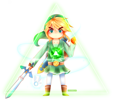 LOZ: Triforce (part 2) : COURAGE by Twinklii
