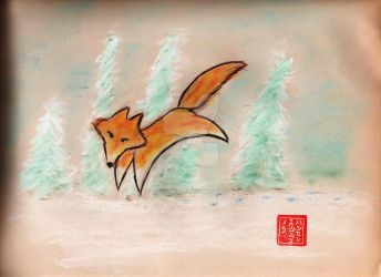 Fox flight by KittyrinnAiko