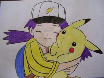 Casey and Pikachu by AJLeefan4life