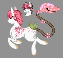 Cherry Blossom Themed Plant Pony Custom by Amiookamiwolf