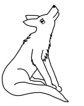 Template of wolf looking up by OoOVixenOoO