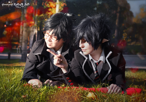 Okumura twins in park 9 by signore-illusionista