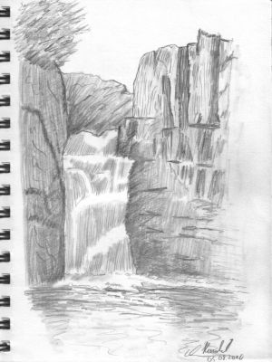 Drawing Lesson: Waterfall 001 by HaraldElsen