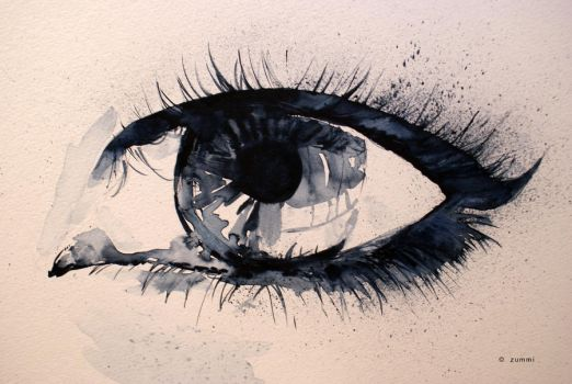 Eye in watercolours by zummi