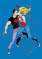 Superboy and Wondergirl by Jeanbiscuit