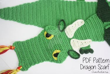 Dragon Scarf - Crochet Pattern