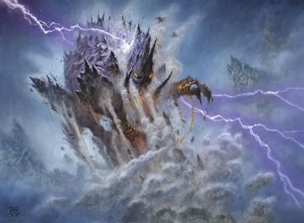 Stormcrag Elemental by RalphHorsley