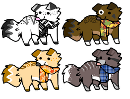 Scarf Pups! .:CLOSED:. by QualiT-Adopts