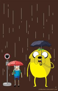 My neighbors Finn and Jake by sunkensheep