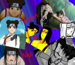 Tenten and Neji Collage by Busted-Love