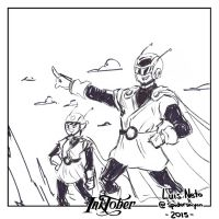 Inktober2015 Day-4 Great Saiyaman/Great Saiyawoman by Spidersaiyan