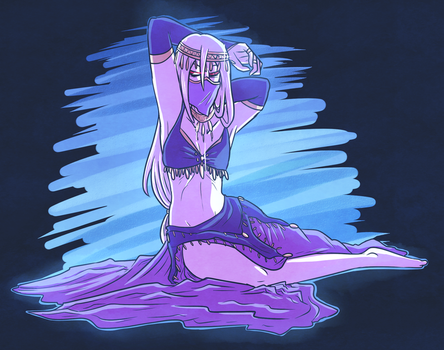 Bellydancer Fool by graffiti-flower