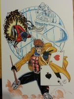 X-men commission Copic Marker Sketch by sithlord151
