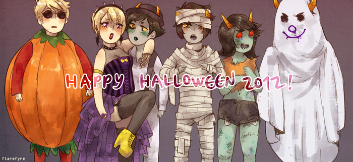 Happy Homestuck Halloween!! by Flarefyre