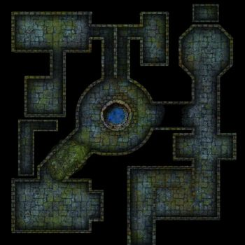 Clean mossy dungeon map for DnD / Roll20 by SavingThrower