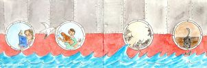 Portholes - Drawing in the sea - 03 by lu--24