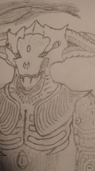 Demon Warrior Concept Art 2 (Close Up) by dracohalo117