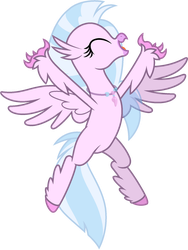 Mlp Base silver stream (Hippogriff 2) by lorenacarrizo18