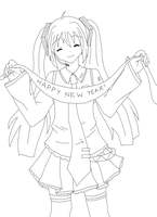 Happy New year '10 Lineart by strawberry-queen1