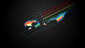 Fastest Mare Alive - Rainbow Dash Wallpaper by smokeybacon