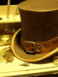 Steampunk Leather Tophat by Steam-HeART