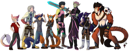 Wildstar Tribute Collaboration by Firewolf-Anime