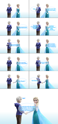 MMD Frozen-RotG Comic - Just friends by LordBlackTiger666