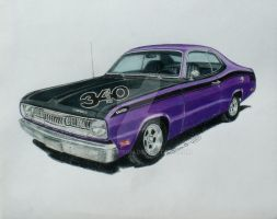 1972 Plymouth Duster (Plum Purple) by nethompson