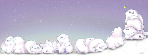Roly Poly Polar Bears by mree