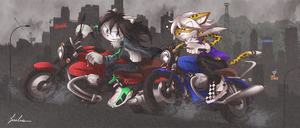 Morning rainy ride +comm+ by BlackDragon-kin