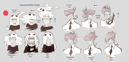 Weird Hair Study by NanoMortis