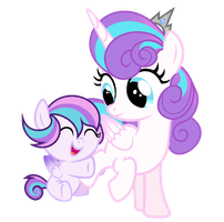 MLP Flurry Heart And Her Little Sister Lissa by WingLightYT