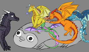 Wings of Fire draw the squad by FloweyD