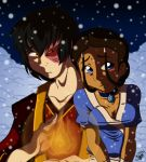 Zutara_A cold day of snow by ShiroTenShi-Yuki