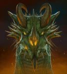 Big Face Dragon Head by wallace