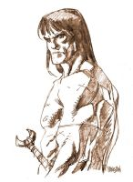 sepia CONAN by urban-barbarian