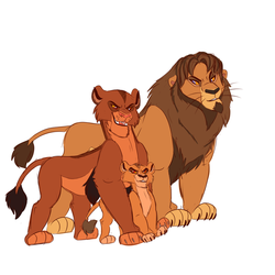 Lions Over All by Wolf-Chalk