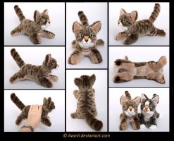 Plushie Commission: Kiara the Cat by Avanii
