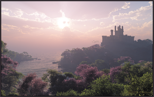 Castle by the Sea by jbjdesigns