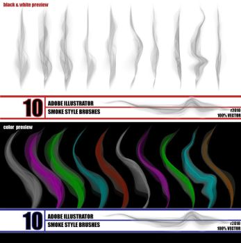 smoke - illustrator brush pack by r2010