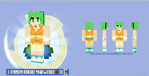 Minecraft Skin - Gumi the Vocaloid by Hermesbird04