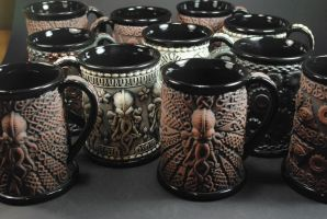 Beer Steins by TheTrespasser