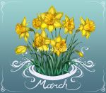 March Daffodils by BabaKinkin