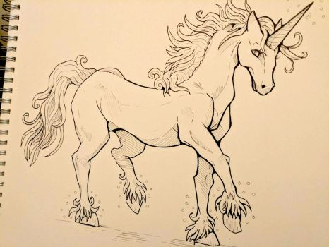 Inktober Day 10 - Unicorn by SarahRichford