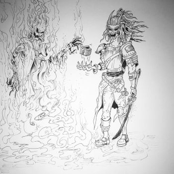 The wraith and the demon by mikeyquig