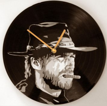 Clint Eastwood on vinyl record by vantidus