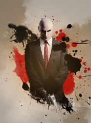 Watercolor - Agent 47 by md-photoshops